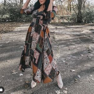 Dresses & Skirts - Patchwork and floral maxi dress